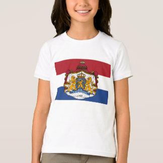 Drapeau du manteau néerlandais du T-shirt de