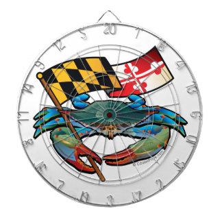 Drapeau du Maryland de crabe bleu Jeux De Fléchettes