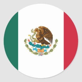 Drapeau du Mexique Sticker Rond