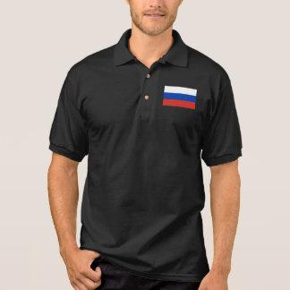 Drapeau du monde de la Russie Polo