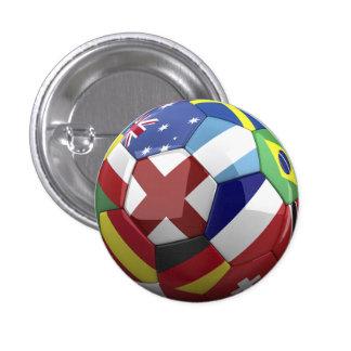 Drapeau du monde sur la boule de Soocer Badge