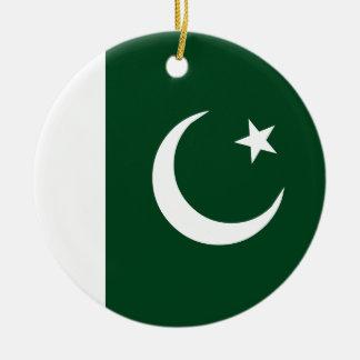 Drapeau du Pakistan Ornement Rond En Céramique