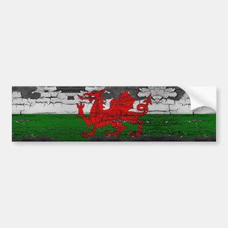 Drapeau du Pays de Galles affligé Autocollant De Voiture