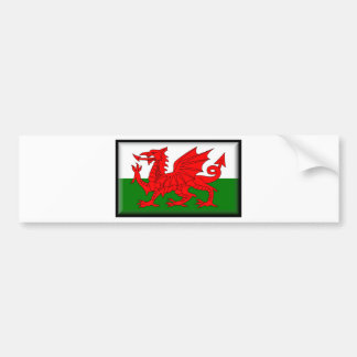 Drapeau du Pays de Galles Autocollant De Voiture