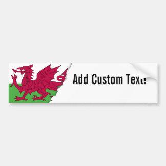 Drapeau du Pays de Galles Autocollant Pour Voiture