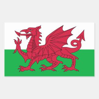 Drapeau du Pays de Galles Sticker En Rectangle