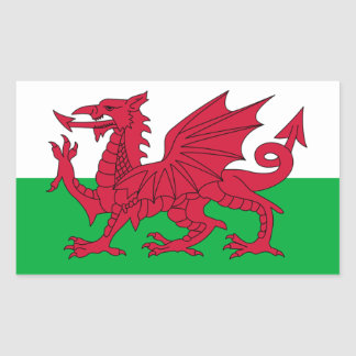 Drapeau du Pays de Galles Sticker Rectangulaire