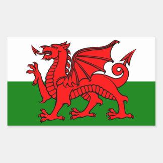 Drapeau du Pays de Galles Sticker Rectangulaire