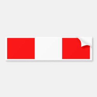 Drapeau du Pérou Autocollant Pour Voiture