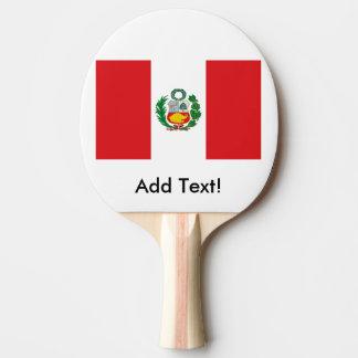 Drapeau du Pérou Raquette Tennis De Table