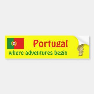 Drapeau du Portugal + Adhésif pour pare-chocs de c Adhésifs Pour Voiture