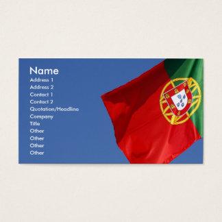 Drapeau du Portugal Cartes De Visite