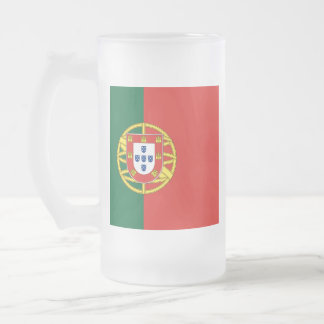 Drapeau du Portugal Frosted Glass Beer Mug