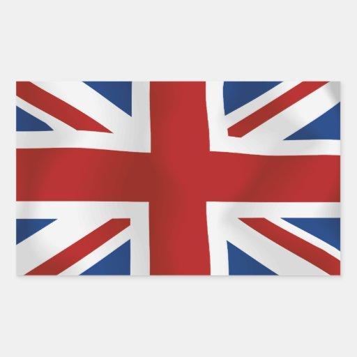 Drapeau du rectangle du Royaume-Uni #2 Stickers Rectangulaires