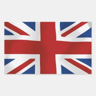 Drapeau du rectangle du Royaume-Uni #2 Sticker Rectangulaire