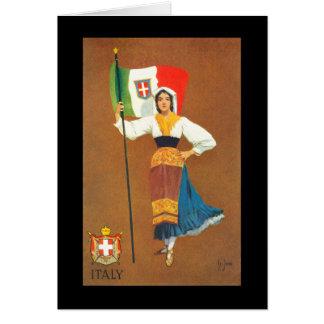 Drapeau du royaume de l'Italie Carte De Vœux