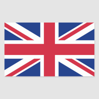 Drapeau du Royaume-Uni Stickers En Rectangle