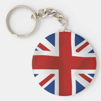 Drapeau du Royaume-Uni Porte-clé Rond