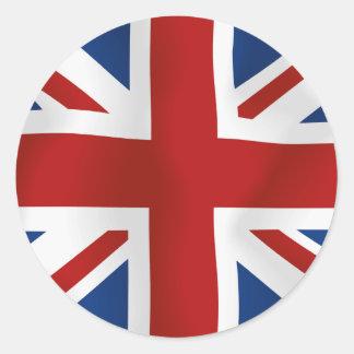 Drapeau du Royaume-Uni Sticker Rond