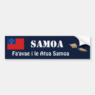 Drapeau du Samoa + Adhésif pour pare-chocs de cart Autocollants Pour Voiture