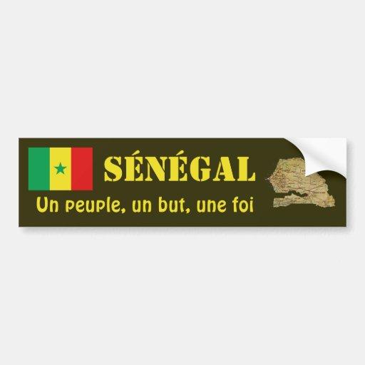 Drapeau du Sénégal + Adhésif pour pare-chocs de ca Adhésifs Pour Voiture