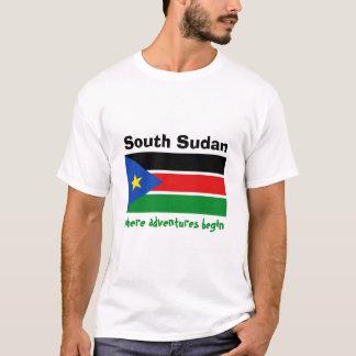 Drapeau du sud du Soudan + Carte + T-shirt des