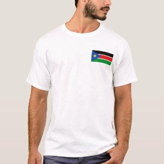 Drapeau du sud du Soudan et T-shirt de carte
