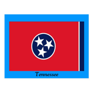 Drapeau du Tennessee Carte Postale