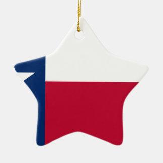 Drapeau du Texas - fierté texane Ornement Étoile En Céramique