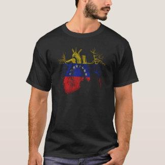 Drapeau du Venezuela au vrai coeur T-shirt