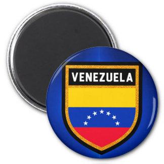 Drapeau du Venezuela Magnet Rond 8 Cm