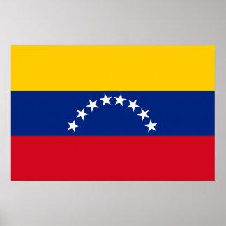 Drapeau du Venezuela Poster