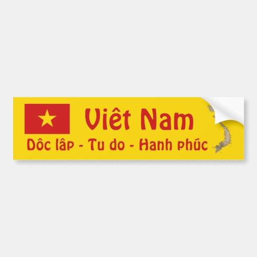 Drapeau du Vietnam + Adhésif pour pare-chocs de ca Autocollants Pour Voiture