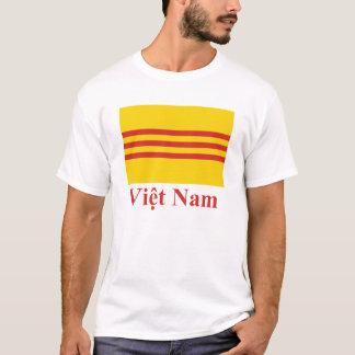 Drapeau du Vietnam du Sud avec le nom dans le T-shirt