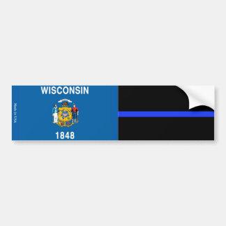 Drapeau du Wisconsin et adhésif pour pare-chocs Autocollant Pour Voiture