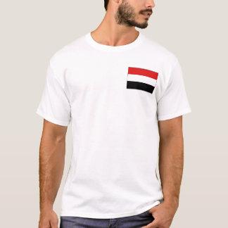 Drapeau du Yémen et T-shirt de carte