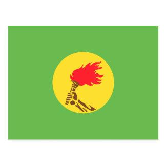 Drapeau du Zaïre, République démocratique du Congo Cartes Postales