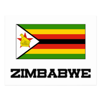 Drapeau du Zimbabwe Carte Postale