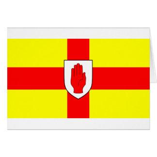 Drapeau d'Ulster - l'Irlande du Nord Carte De Vœux