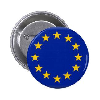 Drapeau d'Union européenne Badge Rond 5 Cm