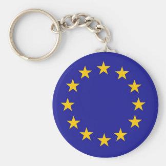 Drapeau d'Union européenne Porte-clé Rond