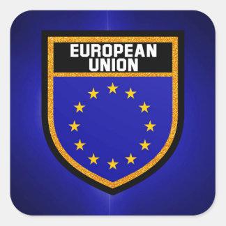 Drapeau d'Union européenne Sticker Carré