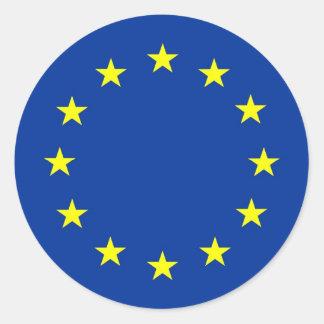 drapeau d'Union européenne Sticker Rond