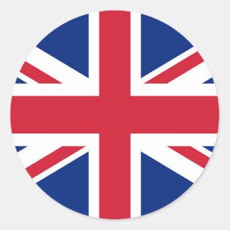 Drapeau d'Union Jack du R-U - version authentique Sticker Rond