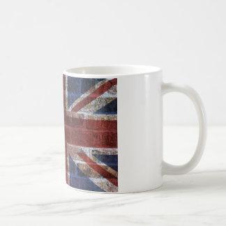 Drapeau d'Union Jack Grande-Bretagne sur le mur de Mug