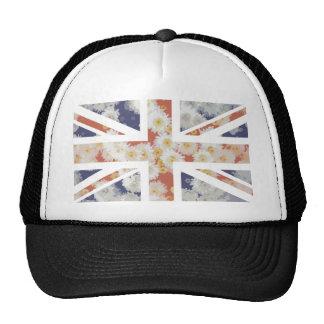 Drapeau d'Union Jack les Anglais (R-U) de fleur de Casquettes De Camionneur