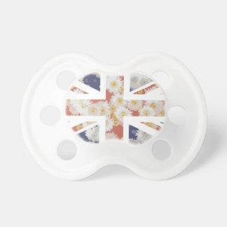 Drapeau d'Union Jack les Anglais (R-U) de fleur de Tétines