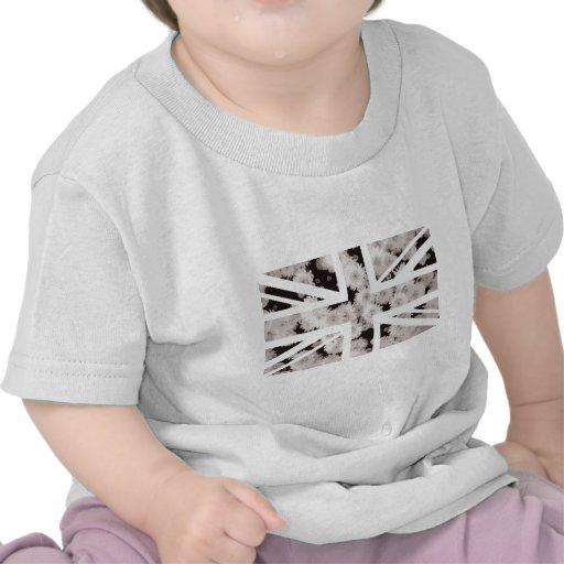 Drapeau d'Union Jack les Anglais (R-U) de fleur de T-shirts