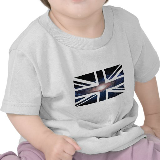 Drapeau d'Union Jack les Anglais (R-U) de galaxie T-shirt