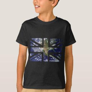 Drapeau d'Union Jack les Anglais (R-U) de la terre T-shirt